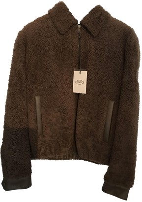 Tod's Brown Shearling Jacket for Women