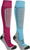 Trespass Womens/Ladies Janus Ski Socks (2 Pair Pack)