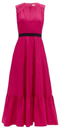 Roksanda Blaise Waist-sash Cotton-poplin Dress - Pink
