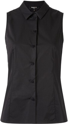 Paule Ka Sleeveless Fitted Blouse