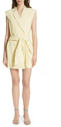 Tibi Tie Waist Blazer Dress