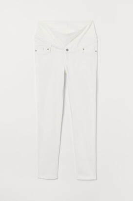 H&M MAMA Skinny Ankle Jeans - White