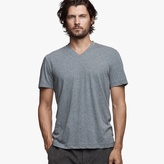 James Perse Melange Cotton Linen V-Neck