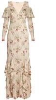 Vilshenko Bonita floral-print silk-georgette gown
