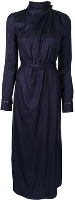 Gabriela Hearst Belted Silk Dress