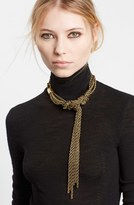 Lanvin Women's Tight Knot Brass Necklace