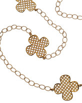 Gold Long Iron Clover 3-Way Necklace