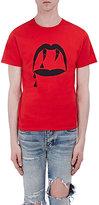 """Saint Laurent Men's """"Blood Lust"""" Graphic Cotton T-Shirt-RED"""