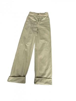 Lemaire Ecru Cotton Jeans for Women