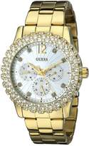 GUESS GUESS? Women's U0335L2 -Tone Multi-Function Watch with Genuine Crystal-Accented Case