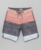 Micros Coral Floral Sam-O Board Shorts - Boys