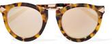 Karen Walker Harvest Superstars Round-frame Acetate And Rose Gold-tone Mirrored Sunglasses - Tortoiseshell
