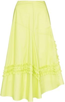 Molly Goddard A-line frill panelled midi skirt