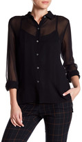 Canvas by Lands' End Canvas by Lands& End Oversized Silk Shirt