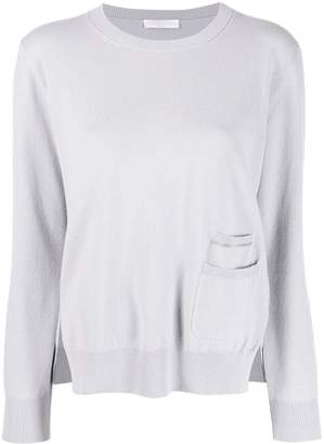 Fabiana Filippi crew-neck pocket sweatshirt