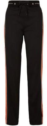 Givenchy Velvet-trimmed Jersey Track Pants