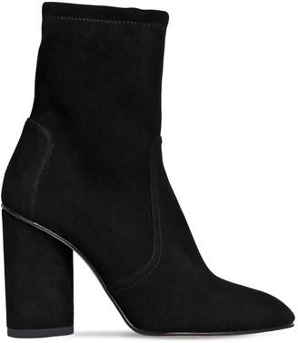 Stuart Weitzman 95mm Margot Stretch Suede Ankle Boots