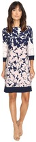 Christin Michaels Staci Floral Printed Shift Dress