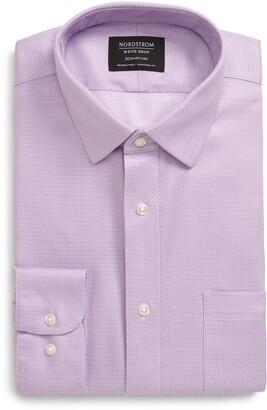 Nordstrom Regular Fit Herringbone Dress Shirt
