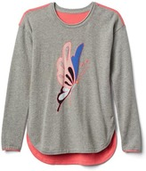 Gap Intarsia colorblock hi-lo sweater