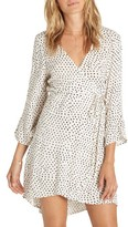 Billabong Women's Wrap It Up Print Wrap Dress