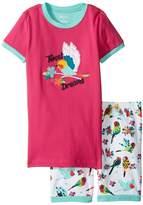 Hatley Tropical Birds Short Pajama Set (Toddler/Little Kids/Big Kids)