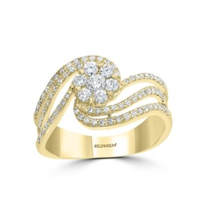 Effy Bouquet By Diamond (1/2 ct. t.w.) Ring in 14k Yellow Gold