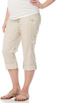 Motherhood Secret Fit Belly Poplin Straight Leg Convertible Maternity Pants