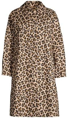 MACKINTOSH Fairlie Leopard-Print Trench Coat