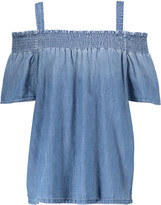 Current/Elliott Madeline off-the-shoulder cotton-chambray top