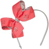 Wee Ones Metallic Overaly Headband - Flower/Vibrant Pink-One Size