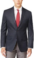 MICHAEL Michael Kors Mens Tonal Plaid Notch Collar Two-Button Blazer 46R