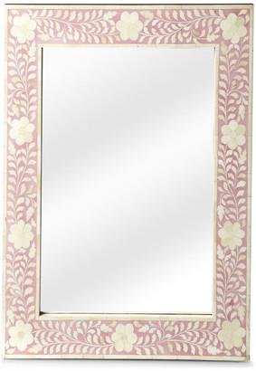 Butler Specialty Company Butler Vivienne Pink Bone Inlay Wall Mirror