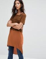 Vero Moda Juca Contrast Fabric Long Tunic Top