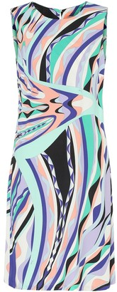 Emilio Pucci Printed silk-blend shift dress