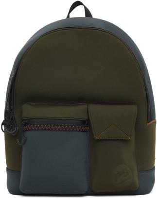 Paul Smith Khaki Neoprene Backpack