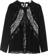 Altuzarra Madge sequin-embellished silk-chiffon blouse