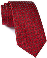Calvin Klein Red Hot Four Square Silk Tie