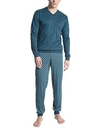 Calida Men's Relax Streamline 1 Pyjama Set, (Umba Red 159), Medium