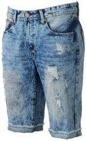 X-Ray Men's XRAY Slim-Fit Distressed Stretch Denim Shorts