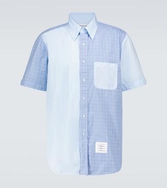 Thom Browne Fun-Mix short-sleeved checked shirt