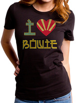 Goodie Two Sleeves Black Davie Bowie I Heart Tee - Women