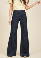 Wrangler Wide-Leg Whim Jeans in Dark Wash - 34 in 20W