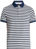 Etro Striped terry-towelling polo shirt