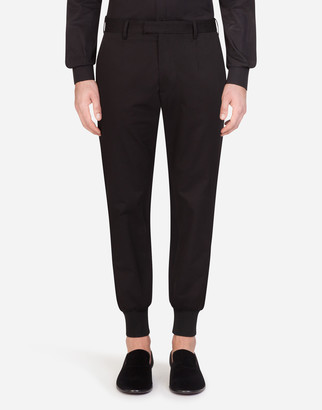 Dolce & Gabbana Stretch Cotton Pants With Side Strips