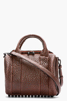 Alexander Wang Brown Studded Leather Rockie Duffle Bag