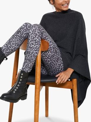 Mint Velvet Leopard Print Leggings, Grey/Multi