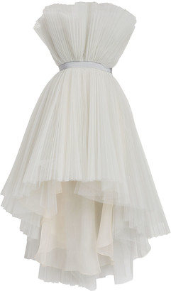 Giambattista Valli Strapless Tulle High-Low Dress
