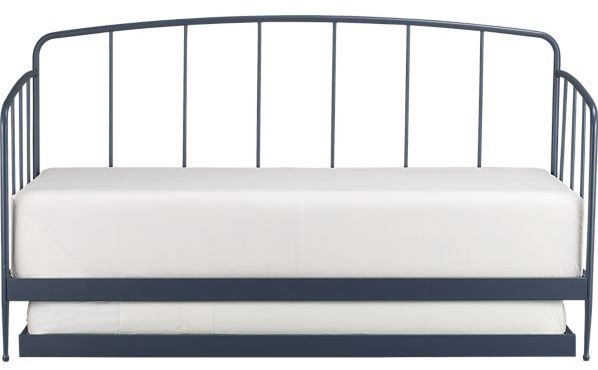 Crate & Barrel Rory Blue Daybed with Trundle.