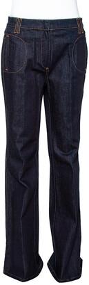 Roberto Cavalli Indigo Dark Wash Denim Flared Jeans M